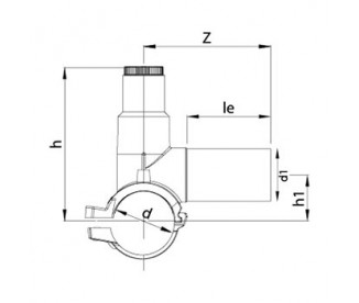 Электросварная седелка Ø225 x 63 мм ПЭ100 SDR 11